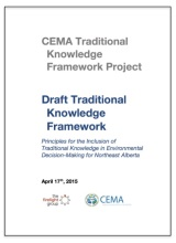 draft traditional knowledge framework cover